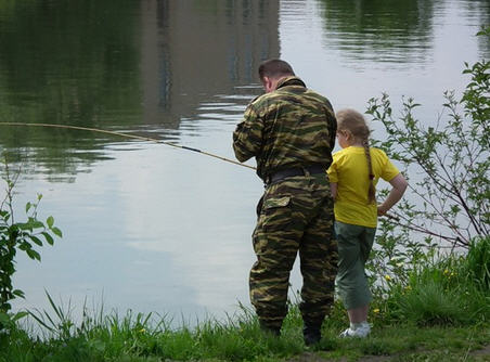 На рыбалку с папой