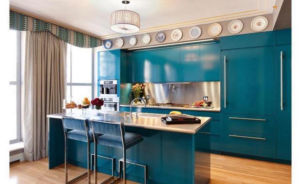 кухняв голубых тонах
