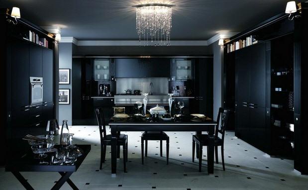 кухня в черных тонах