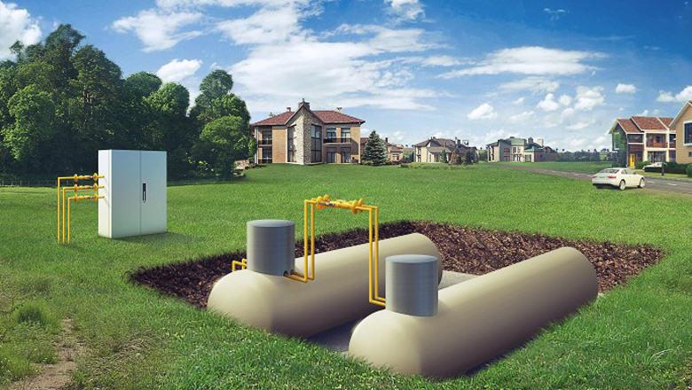 Газгольдер - отопления дома