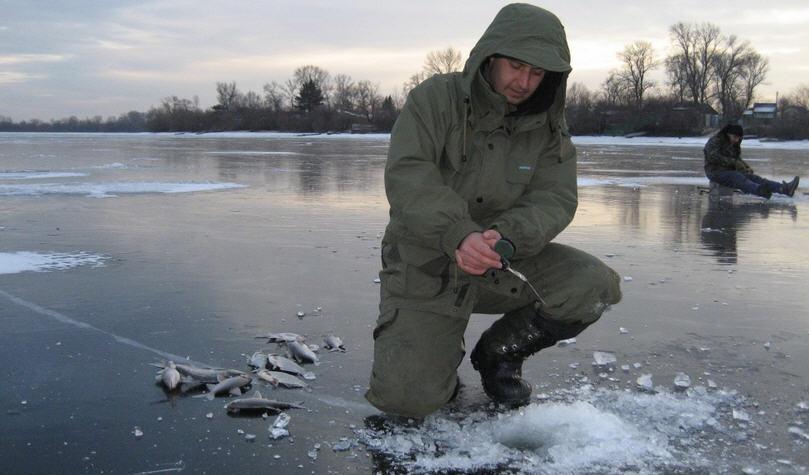Гирлянда, зимняя рыбалка