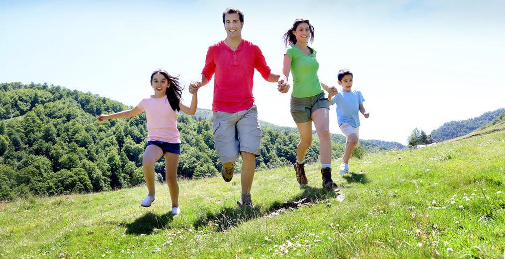 Спорт на свежем воздухе, всей семьей