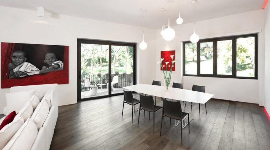 Взрывы цвета в минималистских апартаментах в Риме