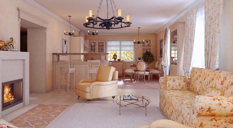 Гостиная в стиле прованс: оплот уюта, света и воздушности