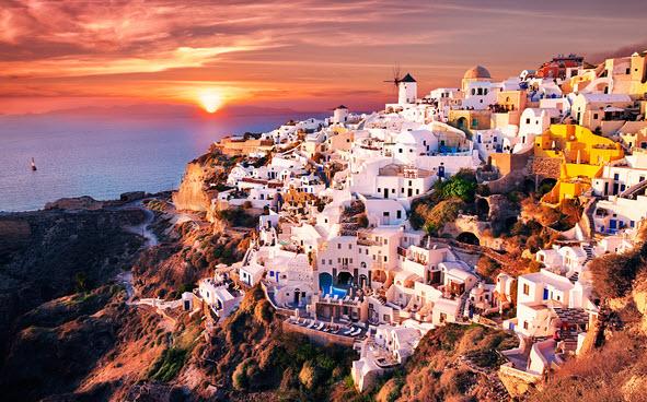 Самые популярные у туристов города в Греции
