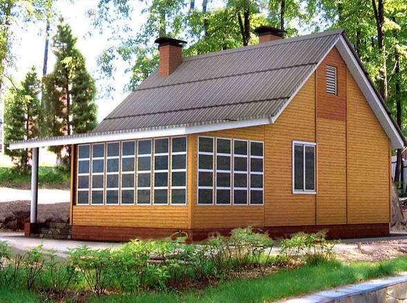 Каркасный дом - интронизация стен каркасного дома
