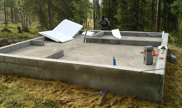 фундамент под баню из керамзита