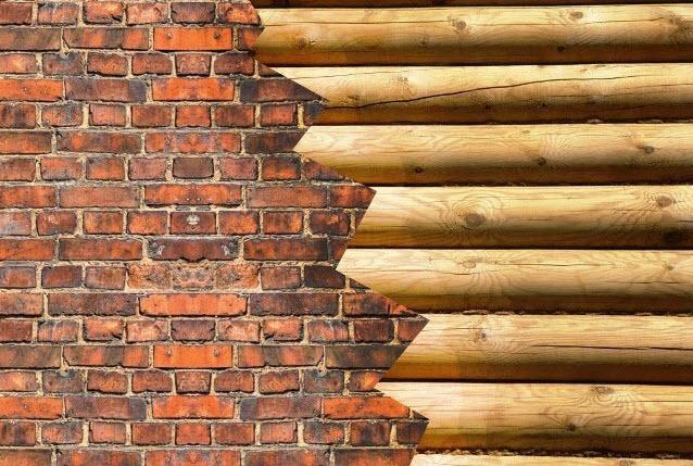 Сочетание материалов в строительстве