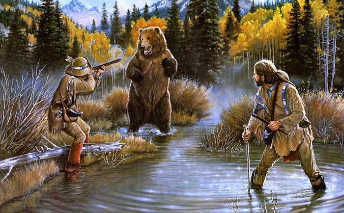 Все об охоте: человек и медведь
