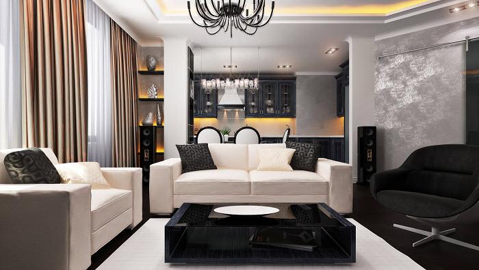 Дизайн гостиной модерн