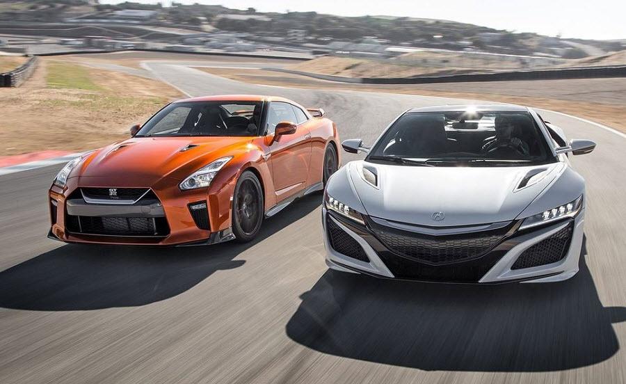 Сравниваем Nissan GT-R vs Honda NSX