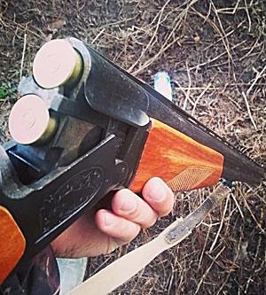 на охоте с ружьем ИЖ 27М