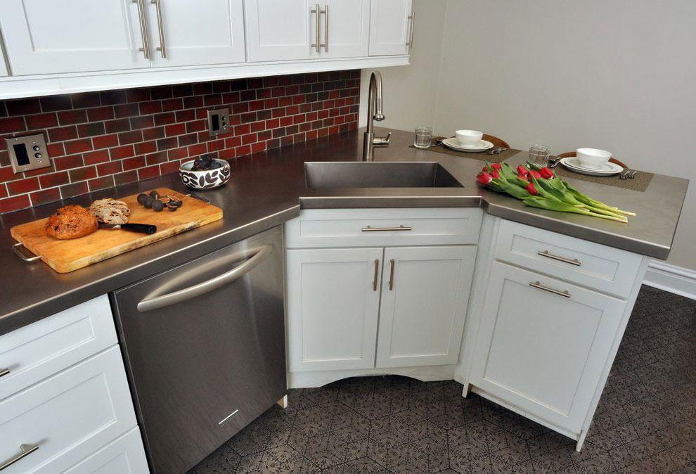 Раковина в углу кухни: виды, особенности выбора и монтажа
