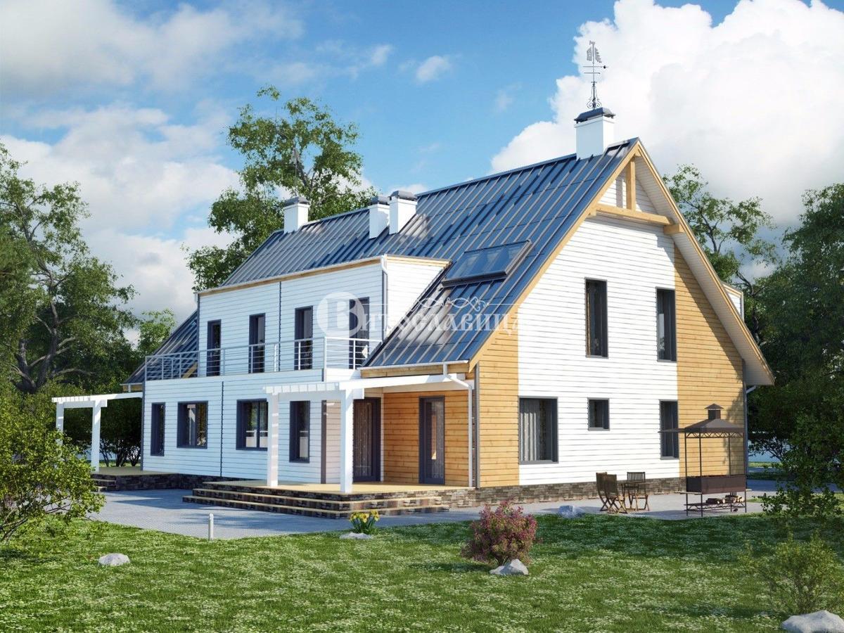 Проекты домов на 2 семьи с разными входами